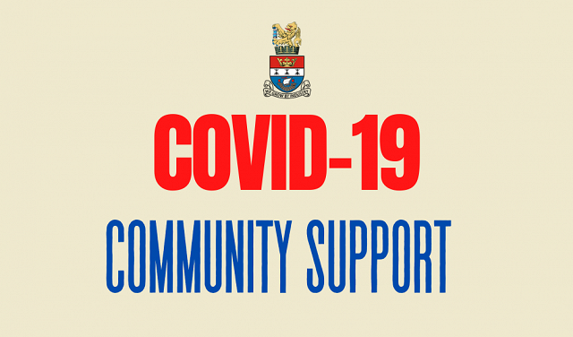 COVID-19 Community Support Blyth Town Council Logo