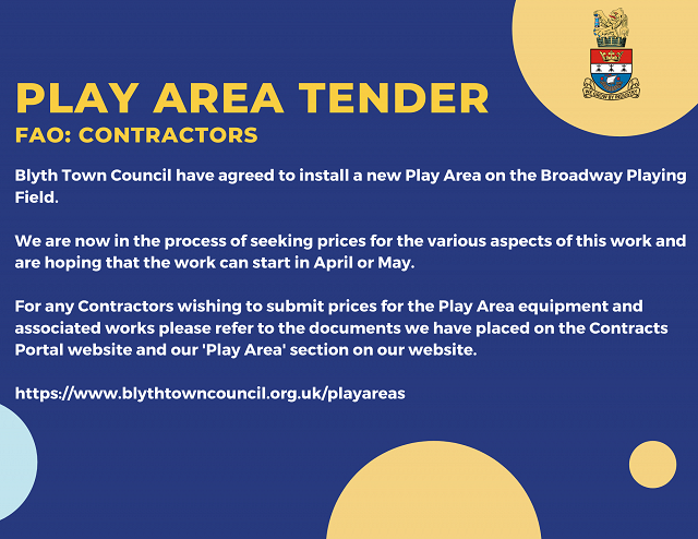 Play Area Tender Information for Contractors