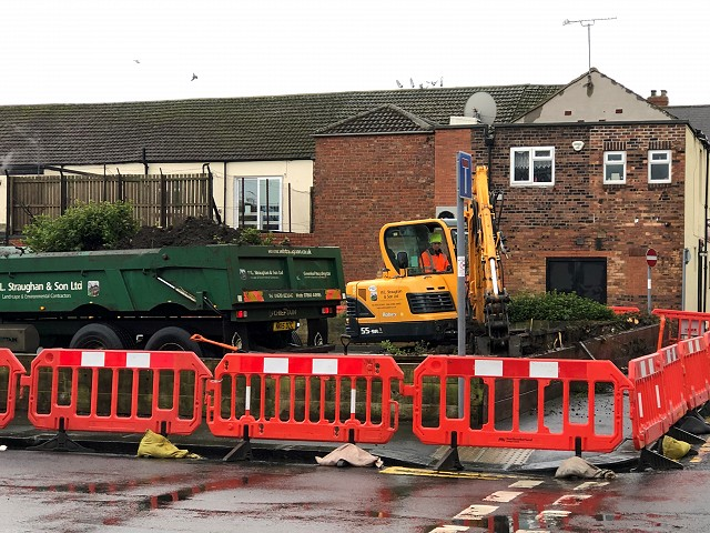 Picture showing work started on High Street in Blyth
